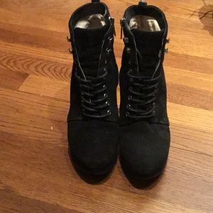 Michael Kors black wedge boots size 7.5